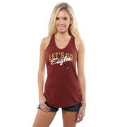 Women's Crimson Boston College Eagles Let's Go Racerback Tank Top