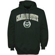 Mens Forest Green Colorado State Rams Arch Over Logo Hoodie