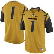 Men's Nike No. 1 Gold Missouri Tigers Replica Game Football Jersey