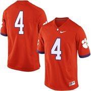 Mens Clemson Tigers No. 4 Nike Orange Game Football Jersey
