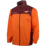 Men's Columbia Orange/Maroon Virginia Tech Hokies Glennaker Lake Full-Zip Rain Jacket