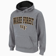 Men's Stadium Athletic Gray Wake Forest Demon Deacons Arch & Logo Pullover Hoodie