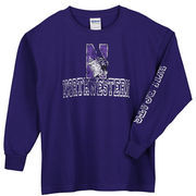 Youth New Agenda Purple Northwestern Wildcats Hollow Straight Tryout Long Sleeve T-Shirt