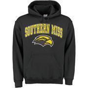 Men's New Agenda Black Southern Miss Golden Eagles Midsize Arch Over Logo Hoodie