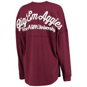 Women's Maroon Texas A&M Aggies Rally Cry Sweeper Long Sleeve T-Shirt