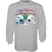 Men's Blue 84 Heathered Gray South Alabama Jaguars vs. Air Force Falcons 2016 Arizona Bowl Dueling Long Sleeve T-Shirt