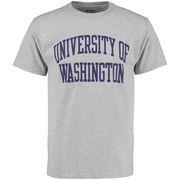 Men's Champion Gray Washington Huskies University T-Shirt