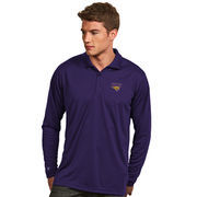 Men's Antigua Purple Northern Iowa Panthers Exceed Long Sleeve Polo