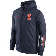 Men's Nike Navy Illinois Fighting Illini Circuit Full-Zip Performance Hoodie
