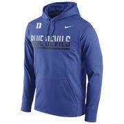 Men's Nike Royal Duke Blue Devils Circuit Pullover Performance Hoodie