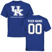 Men's Royal Kentucky Wildcats Personalized Basketball T-Shirt