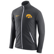Men's Nike Charcoal Iowa Hawkeyes 2016 Elite Player Dri-FIT Touch Full-Zip Jacket