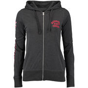 Women's Charcoal Washington State Cougars Sunset Full-Zip Jersey Hoodie