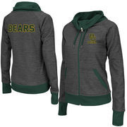 Women's Adult Colosseum Charcoal Baylor Bears Velocity Cowl Neck Full Zip Jacket