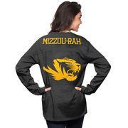 Women's Black Missouri Tigers The Big Shirt Oversized Long Sleeve T-Shirt