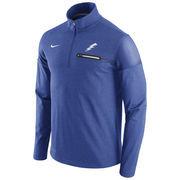 Men's Nike Heathered Royal Air Force Falcons 2016 Elite Coaches Dri-FIT 1/2 Zip Jacket