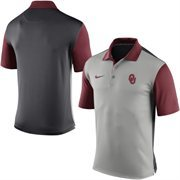 Men's Nike Gray Oklahoma Sooners 2015 Coaches Preseason Sideline Polo