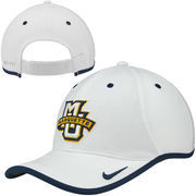 Mens Marquette Golden Eagles Nike White Coaches Performance Adjustable Hat
