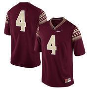 Mens Florida State Seminoles No. 4 Nike Garnet Game Football Jersey