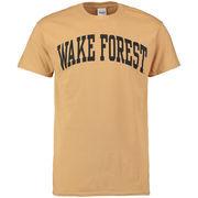 Men's New Agenda Gold Wake Forest Demon Deacons Arch T-Shirt