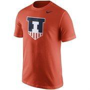 Men's Nike Orange Illinois Fighting Illini Logo T-Shirt