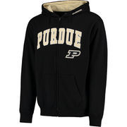 Men's Black Purdue Boilermakers Arch & Logo Full-Zip Hoodie