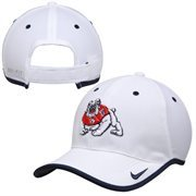Mens Fresno State Bulldogs Nike White Coaches Performance Adjustable Hat