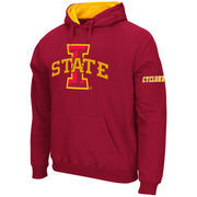 Men's Stadium Athletic Cardinal Iowa State Cyclones Big Logo Pullover Hoodie