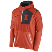 Men's Nike Orange Illinois Fighting Illini 2016 Sideline Vapor Fly Rush Half-Zip Pullover Jacket