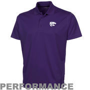 Kansas State Wildcats Omega Solid Mesh Tech Performance Polo - Purple