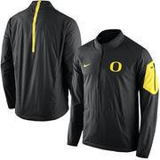 Men's Nike Black Oregon Ducks Coaches Sideline Lockdown Half-Zip Wind Jacket