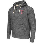 Men's Colosseum Heather Black Texas Tech Red Raiders Roadster Pullover Hoodie
