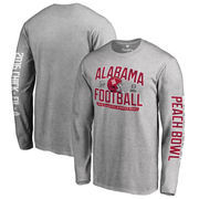 Men's Fanatics Branded Heather Gray Alabama Crimson Tide College Football Playoff 2016 Peach Bowl Bound Playoff Long Sleeve T-Sh