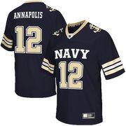 Men's Colosseum Navy Navy Midshipmen Football Jersey