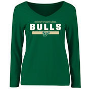 Women's Green South Florida Bulls Team Strong Long Sleeve Slim Fit T-Shirt