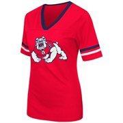 Women's Colosseum Cardinal Fresno State Bulldogs Aurora Short Sleeve T-Shirt