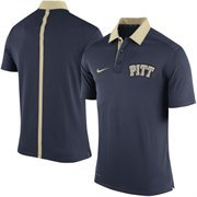 Men's Nike Navy Blue Pitt Panthers Coaches Sideline Performance Polo