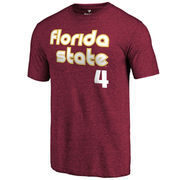 Men's Fanatics Branded Garnet Florida State Seminoles Retro Basketball Tri-Blend T-Shirt