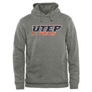 Men's Heather Gray UTEP Miners Classic Wordmark Pullover Hoodie