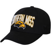 Men's Top of the World Black Southern Miss Golden Eagles Basic Structured Adjustable Hat