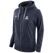 Women's Nike Navy Arizona Wildcats Tailgate Gym Vintage Full-Zip Hoodie