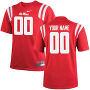 Youth Nike Red Ole Miss Rebels Custom Replica Jersey
