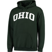 Men's Green Ohio Bobcats Basic Arch Pullover Hoodie