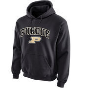 Men's New Agenda Charcoal Purdue Boilermakers Midsize Arch Over Logo Hoodie