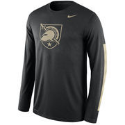 Men's Nike Black Army Black Knights Legend DNA Wordmark Long Sleeve Performance T-Shirt