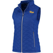 Women's Colosseum Royal Pitt Panthers Elite Quilted Full Zip Vest