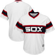 Men's Majestic White Chicago White Sox Throwback Official Cool Base Jersey