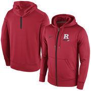 Men's Nike Red Rutgers Scarlet Knights Sideline KO Fleece Full Zip Therma-FIT Hoodie