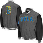Men's Colosseum Charcoal UCLA Bruins Class Letterman II Jacket