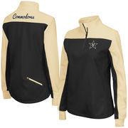 Women's Colosseum Black Vanderbilt Commodores Joust 1/4 Zip Jacket